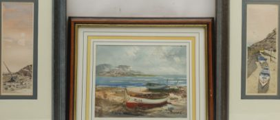 PW Jones (British Contemporary): Boats Moored Up