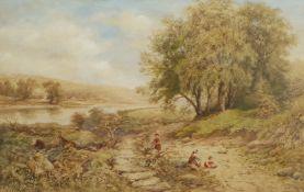 Charles M McArthur (British fl.1860-1914): Children Foraging