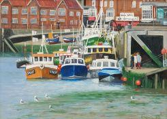Richard Wood (British 20th century): Scarborough Harbour