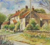 Penny Wicks (British 1949-): 'Lockton Cottages'
