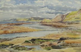 Edward H Simpson (British 1901-1989): On the Scaur looking towards Ravenscar