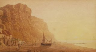 English School (Early 19th century): Drying Nets on the Coast
