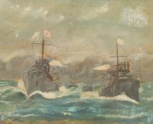 K Dick (British 19th/20th century): 'The Battle of Tsushima' 27th May 1905
