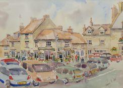 Penny Wicks (British 1949-): Helmsley Marketplace