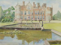 Penny Wicks (British 1949-): 'Burton Agnes Hall'