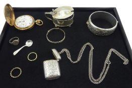Edwardian silver vesta case by Samuel M Levi