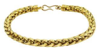 18ct gold foxtail link bracelet