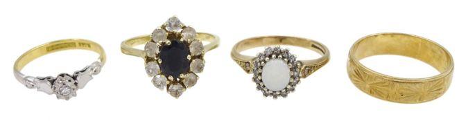 18ct gold single stone diamond ring