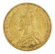 Queen Victoria 1890 gold full sovereign