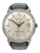 Bulova gentleman's self-winding stainless steel wristwatch