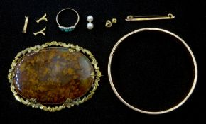 Rose gold bangle inscribed within and dated 1925