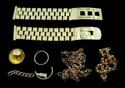 9ct gold watch bracelet and other 9ct gold links