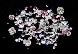 Loose mixed stones including ruby