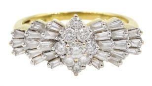 Iliana 18ct gold Ballerina diamond ring