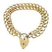 14ct gold double curb link bracelet