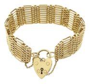 9ct gold nine bar link bracelet