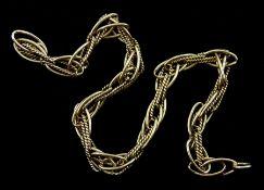9ct gold link braclelet