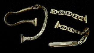 Two 9ct gold watch straps hallmarked