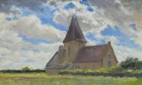 Neil Tyler (British 1945-): 'Hawsker Church'