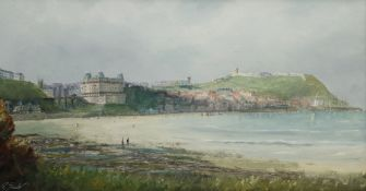 Robert Sheader (British 20th century): Figures on the South Bay Scarborough