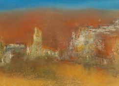 Madeleine Eyland (Belgian/British 1930-2021): 'Deserted Village'