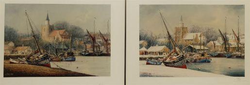 Jack Rigg (British 1927-): 'New Year's Day Blackwater Maldon Essex'