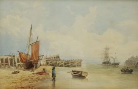 English School (19th century): Harbour Mouth