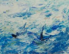 Madeleine Eyland (Belgian/British 1930-2021): 'Stormy Sea'