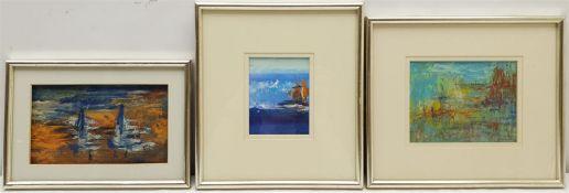 Madeleine Eyland (Belgian/British 1930-2021): Seascapes