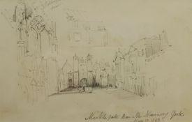 Henry Barlow Carter (British 1804-1868): 'Micklegate Bar and the Nunnery York'