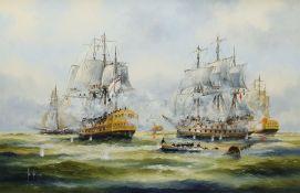 Ken Hammond (British 1948-): The Battle of Trafalgar
