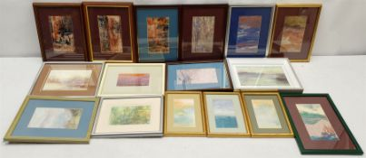 Madeleine Eyland (Belgian/British 1930-2021): Large quantity of small framed abstract pastels