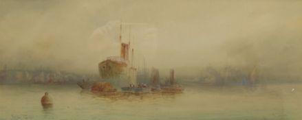 English School (19th/20th century): 'On the Thames'