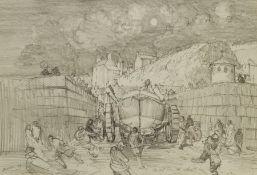 John Freeman (British 1942-): 'Sketch for 'The Shout''