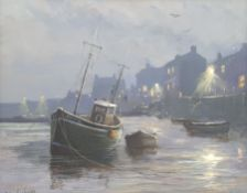 Eric Simpson (Late 20th century): The Harbourside at Night