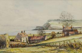 John Freeman (British 1942-): Ravenscar from Raw near Whitby