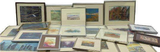 Madeleine Eyland (Belgian/British 1930-2021): Collection of abstract pastels