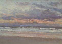 Neil Tyler (British 1945-): 'Stormy Sunrise' off the East Coast