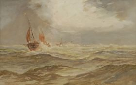 William Henry Pearson (British 19th/20th century): 'Off the Goodwins' Kent