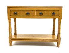 Yorkshire oak - Adzed oak potboard dresser