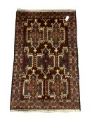 Small Persian Baluchi rug