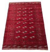 Turkman Bokhara red ground rug