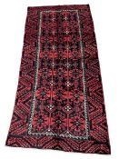 Turkman red and blue ground rug