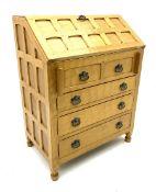 Yorkshire oak - adzed golden oak bureau