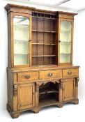 Late Victorian oak dresser