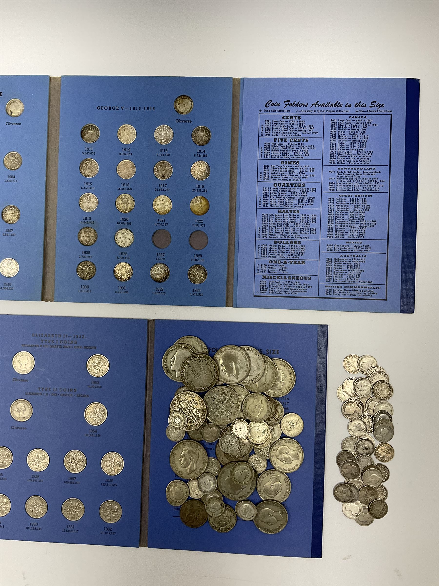 Coins including approximately 300 grams of pre 1947 Great British silver coins - Image 2 of 3