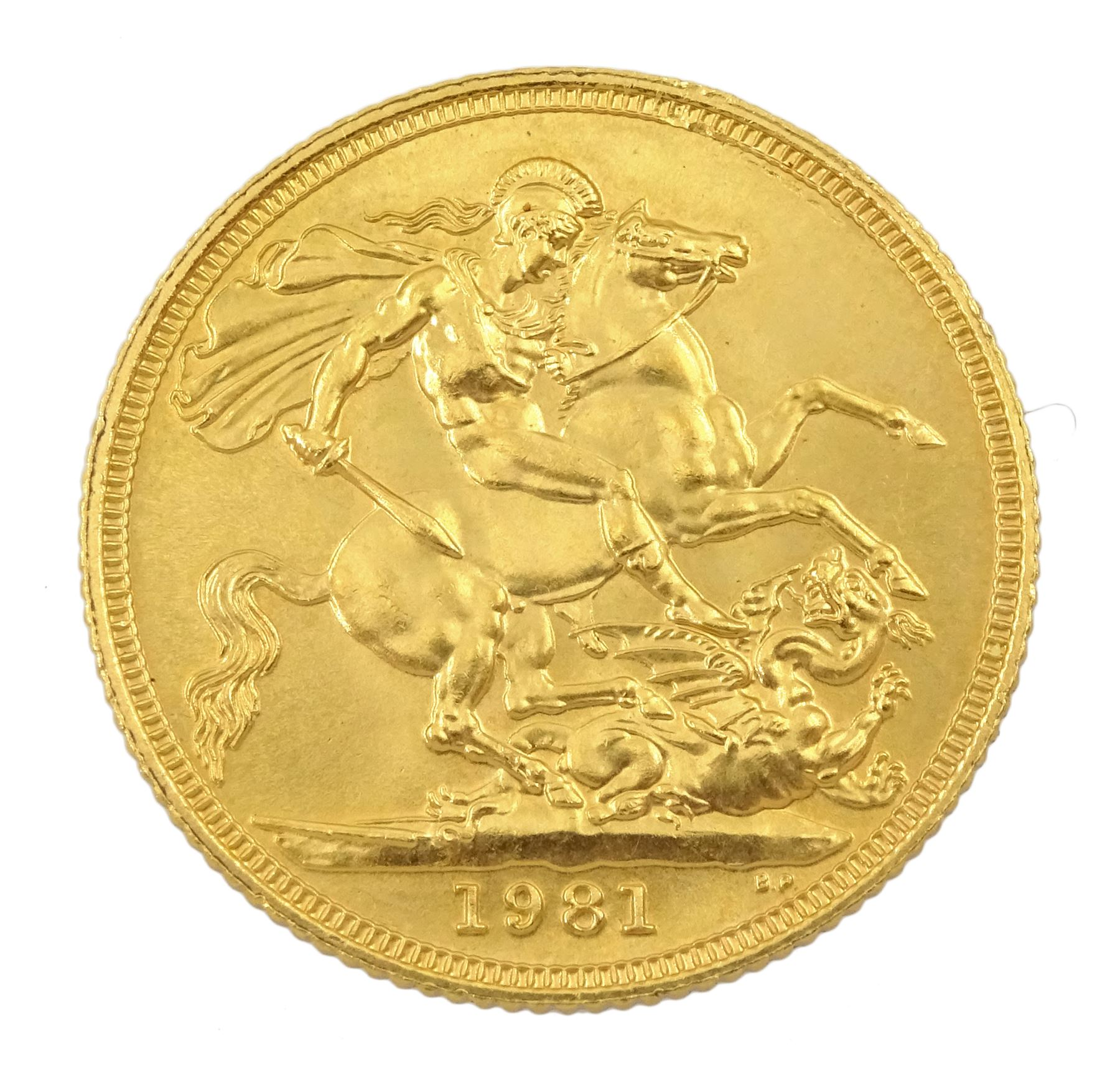 Queen Elizabeth II 1981 gold full sovereign coin - Image 2 of 2
