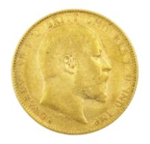 King Edward VII 1909 gold full sovereign coin