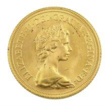 Queen Elizabeth II 1981 gold full sovereign coin