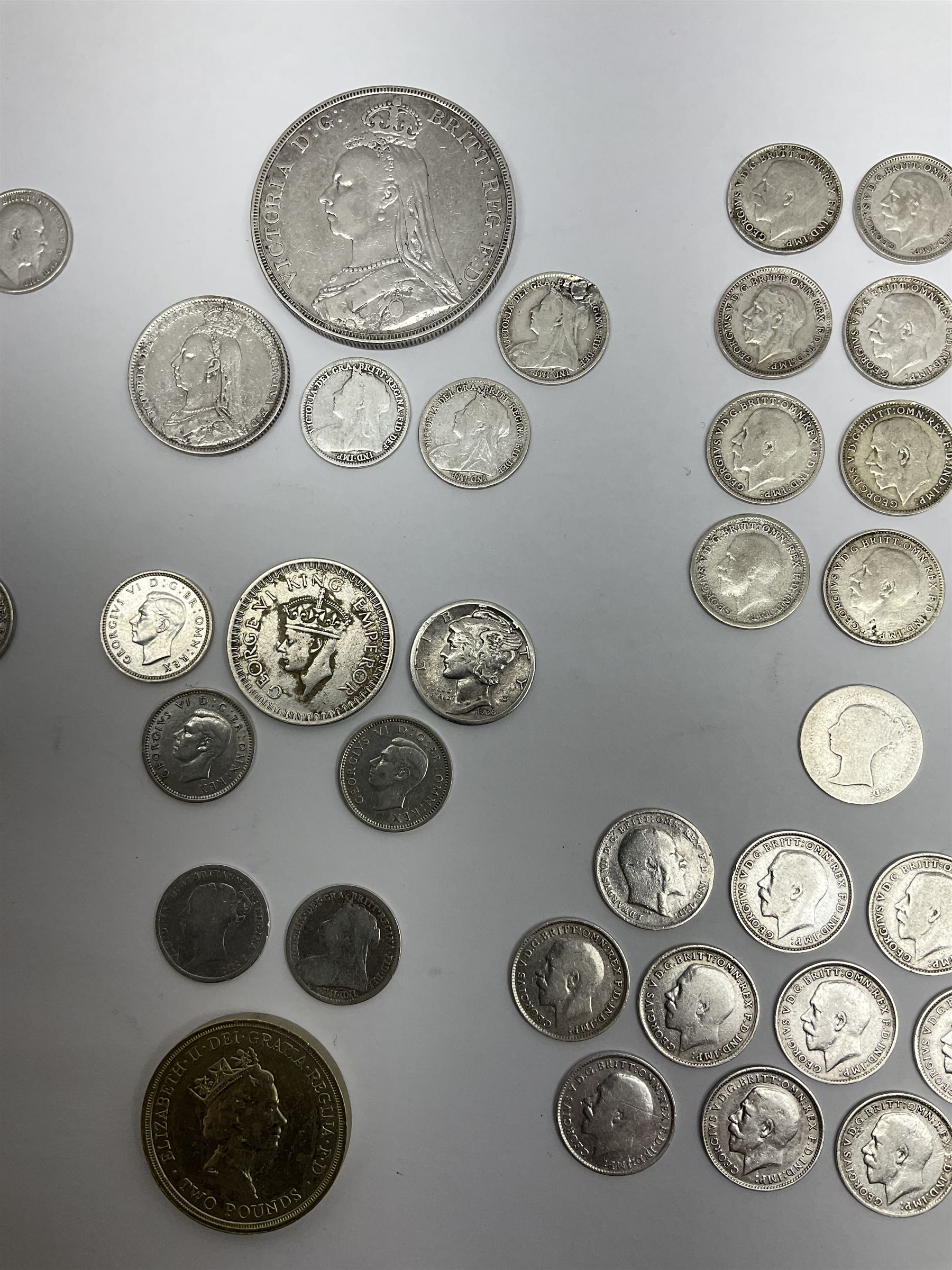 Mostly Great British coins including Queen Victoria 1890 crown and 1890 shilling - Image 3 of 4